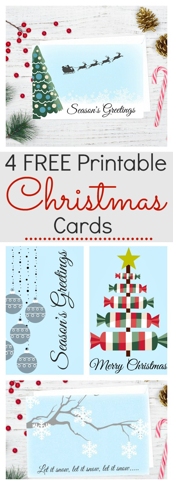 4 of The Best Free Printable Christmas Cards
