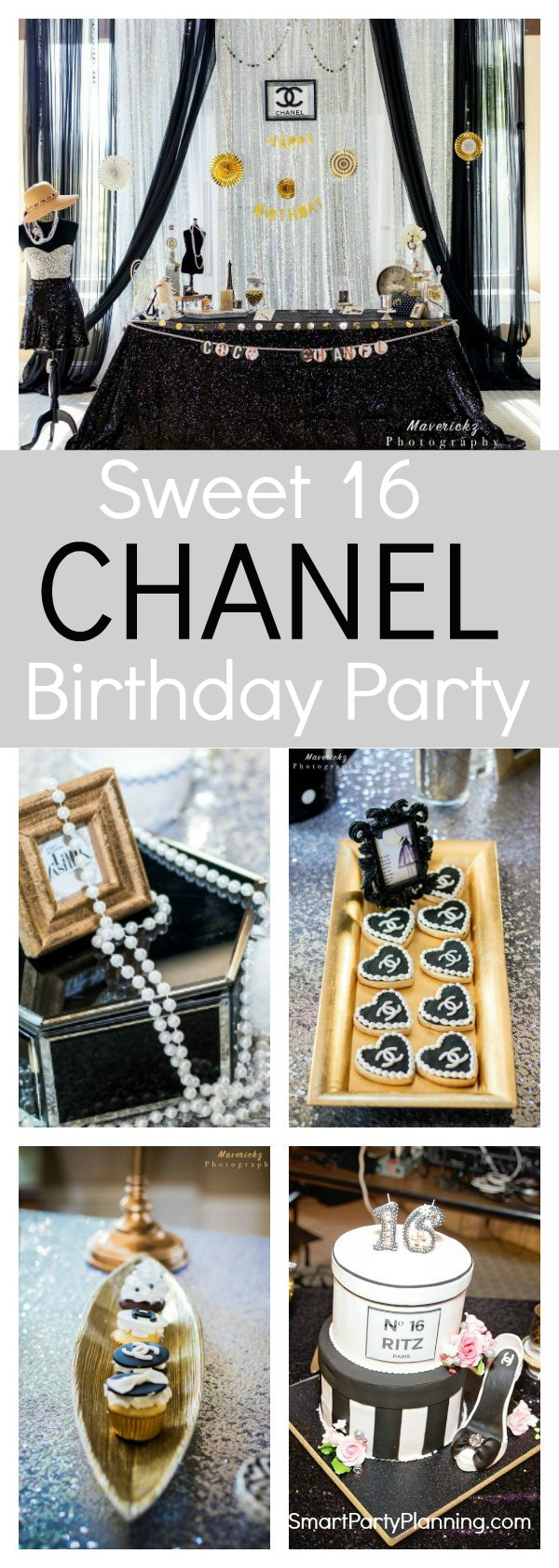 For a stylish and elegant party, look no further than a Chanel birthday party theme. With black and white party decorations, this is a theme that will delight the young and old.  With an element of class and sophistication it is perfect for many party themes including a Sweet 16 party, a 30th birthday or even an engagement party.  Pick some stand out feature centerpieces for the party decor, grab some pearls and dress to impress.