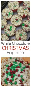 The most amazing white chocolate popcorn recipe that includes M&M's. This Christmas popcorn is perfect for the Christmas holidays with it's red and green M&M's. Need a treat for a different holiday? Simply switch the M&M chocolate colors to suit any other occasion. It's a super easy treat to make that guests will love to enjoy at parties or movie nights.
