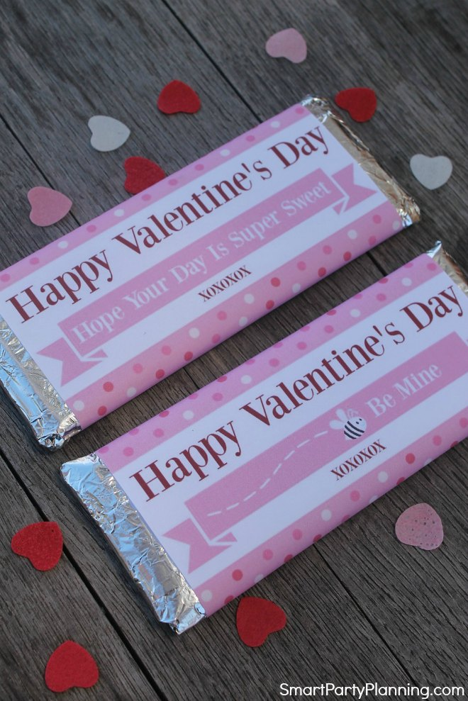 Free Valentines Day Wrappers for Hershey Bars