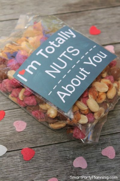Valentine printable nuts about you tag. Featured