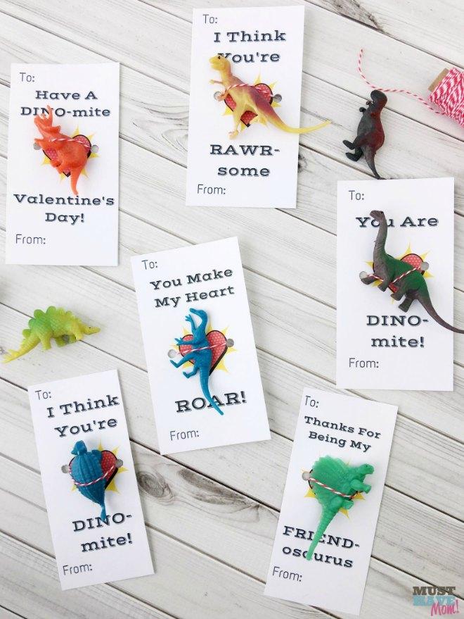 free printable dinosaur valentines day cards