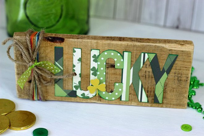 Lucky St Patricks Day Pallet Sign