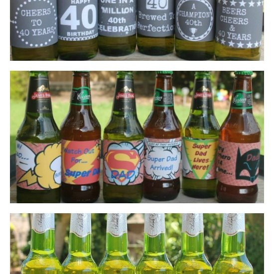 Printable beer labels for all ocassons