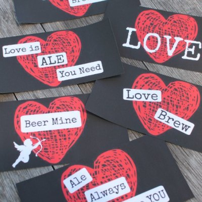 Valentines Day Beer Labels. The Perfect Gift Your Man Will Love