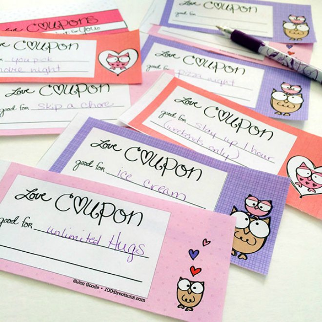 Valentines coupon book printable