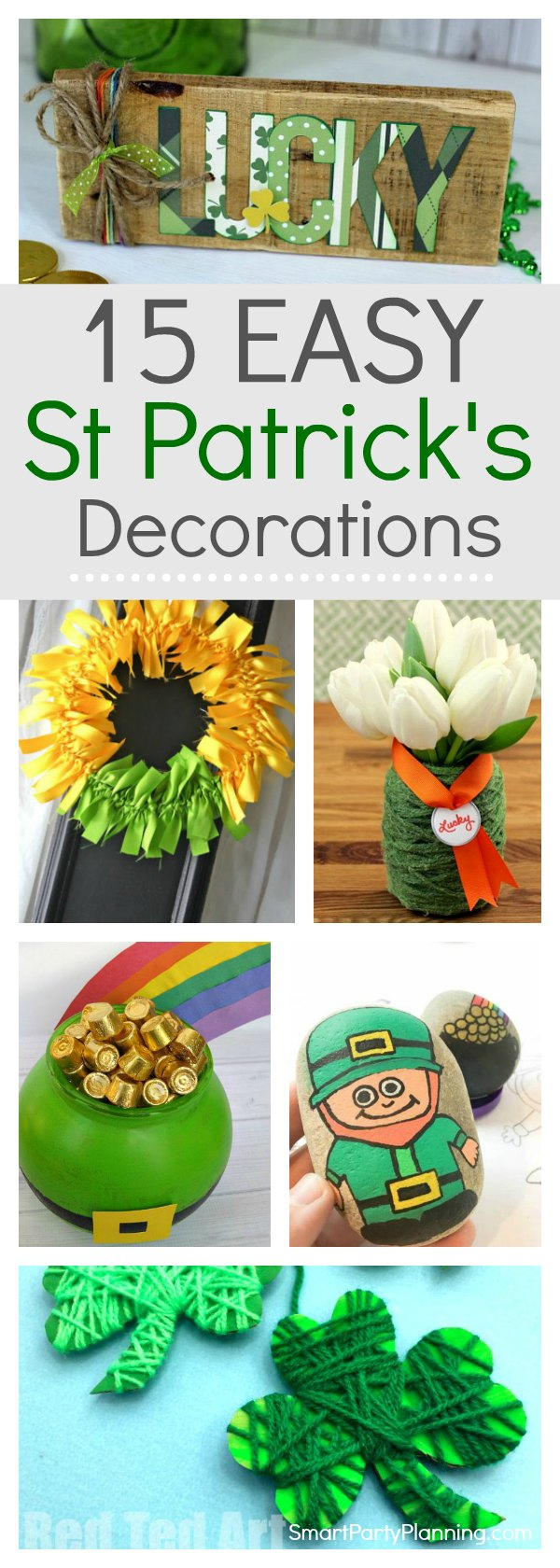 Learn how to make some easy St Patrick's day decorations.  These easy tutorials will help you craft and create some decorations that will brighten up your home for the occasion. Even if you are not feeling creative there will be something here that you can tackle. #StPatricksDayDecorations #Tutorials #DIY #Howtomake