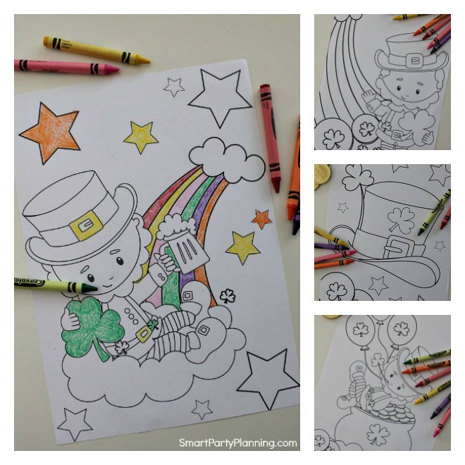 4 free Leprechaun Coloring Pages