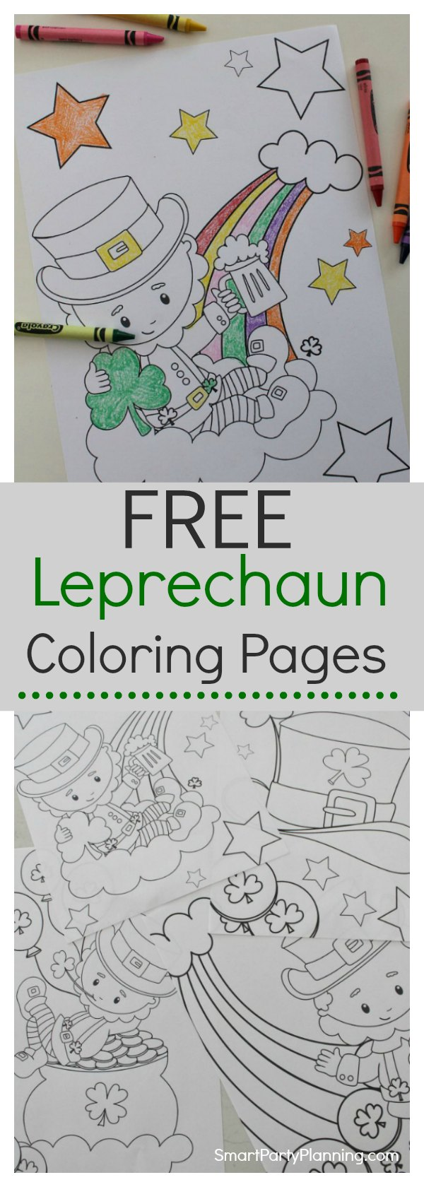 Free Leprechaun Coloring Pages