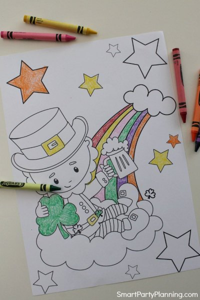 Leprehcaun sitting on a rainbow