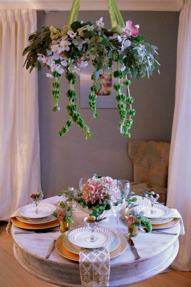 Soft St Patrick's day tablescape