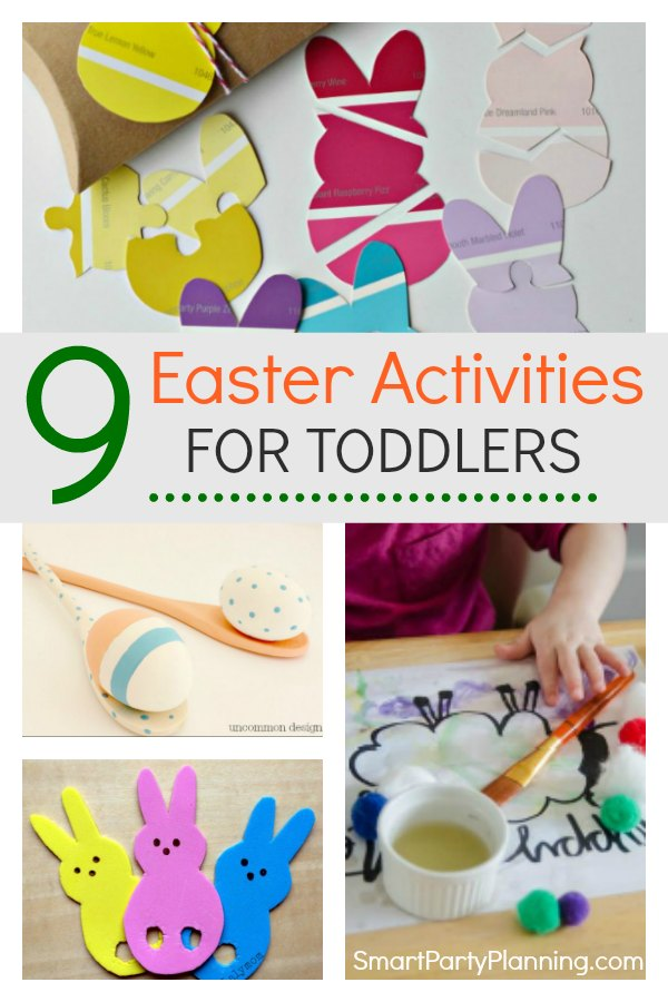 9 fun Easter activities for toddlers. Including some spring crafts, free printable activities and baking that the kids will love. These activities are also a great way to develop the fine motor skills in a fun and exciting way. #Easter #Activitiesfortoddlers #Fun #Finemotor
