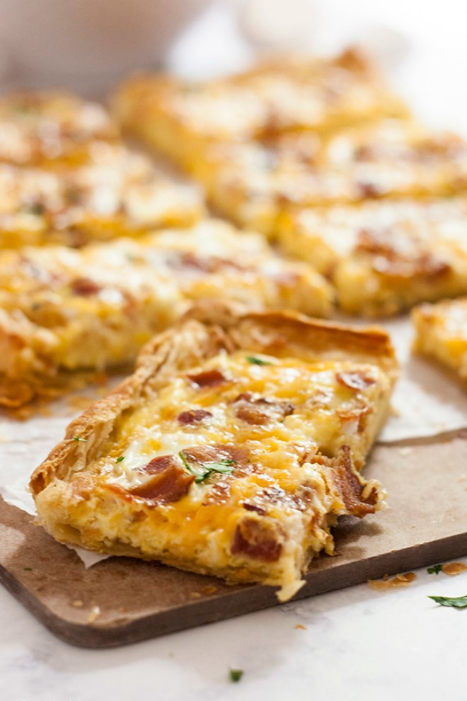 Puff Pastry breakfast pizza