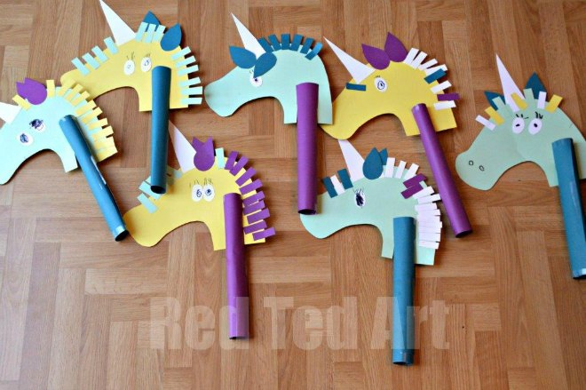 Unicorn hobby horse craft