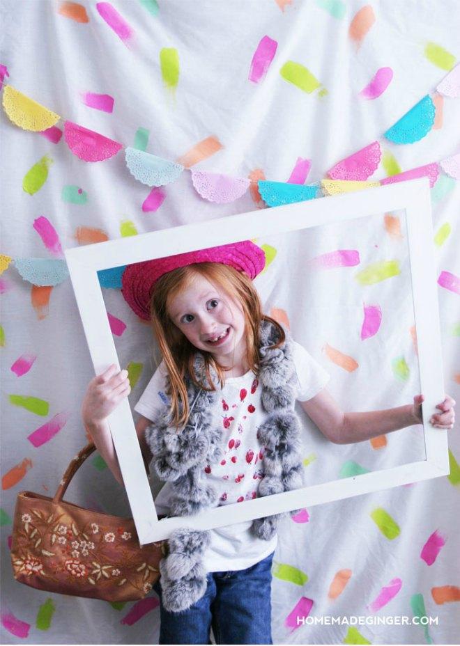 Confetti Photo Booth Backdrop