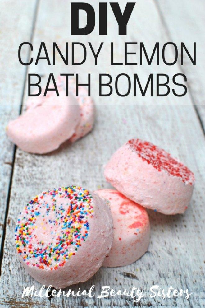 Candy lemon bath bombs