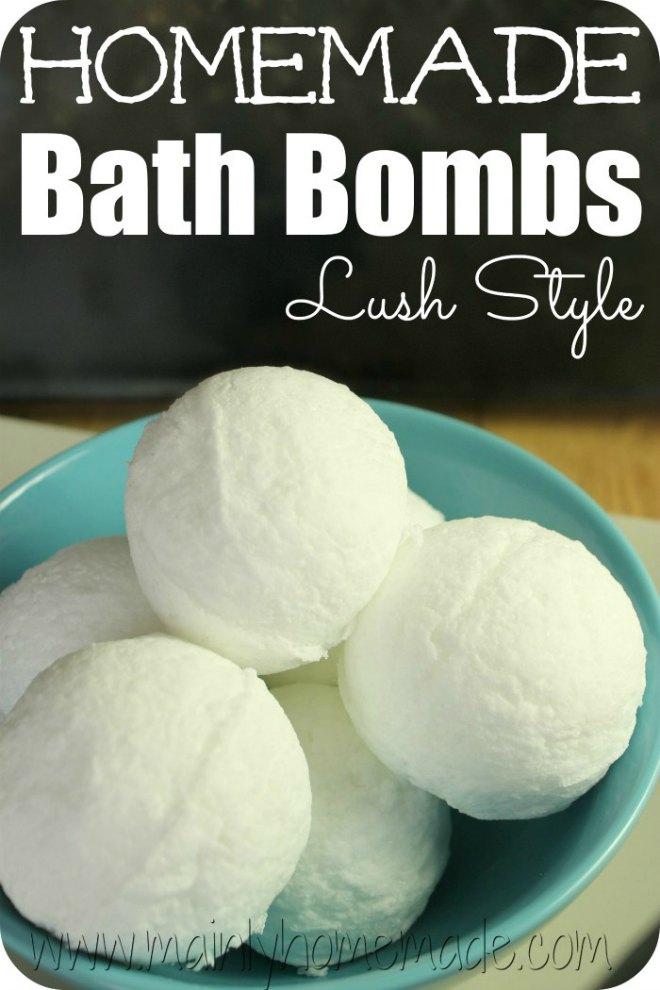 Lush style bath bombs