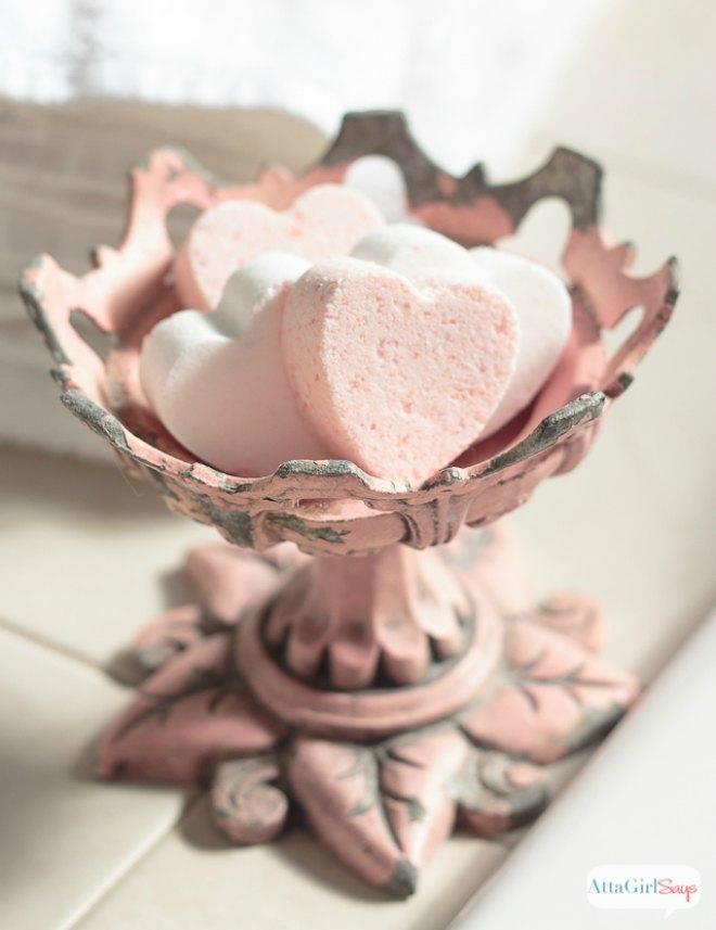 Love potion heart bath bombs