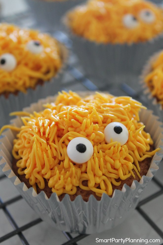 Orange monster cupcakes