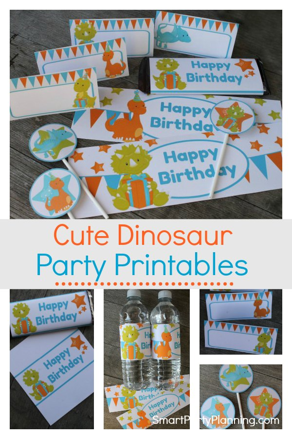Dinosaur party printables