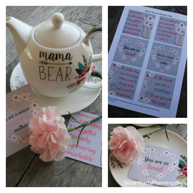 Printable love affirmations for mothers day