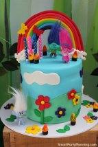 Trolls Birthday Party Cake