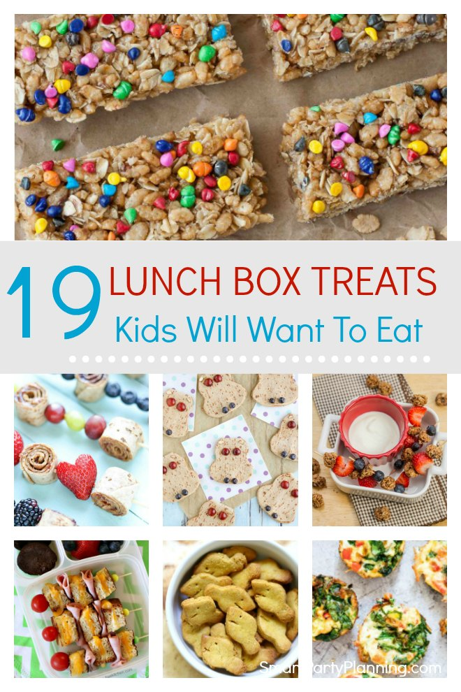 Selection of 19 fun lunch box treats that the kids are going to love taking to school.These treats are tasty, fun and also really simple to make. These are some savory and sweet lunch box ideas that will make going back to school that little bit more desirable.The quick and easy recipes are perfect for the back to school rush and also great for those picky eaters! #Lunchbox #Treats #Savory #Sweet #Fun #Simple #Easy #School #Kids