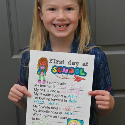 Free First Day Of School Questionnaire To Be Cherished Forever