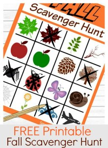 Free Printable Fall Scavenger Hunt