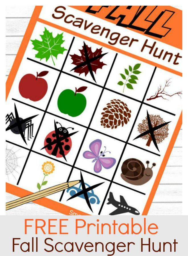 A free printable instant download Fall scavenger hunt for kids. Use the scavenger hunt ideas to create a fun time exploring the outdoors with the little ones. Spending time in nature is refreshing, fun and a great way to use up that energy! #Scavengerhunt #Nature #Kids #Printable #Fall #Fun