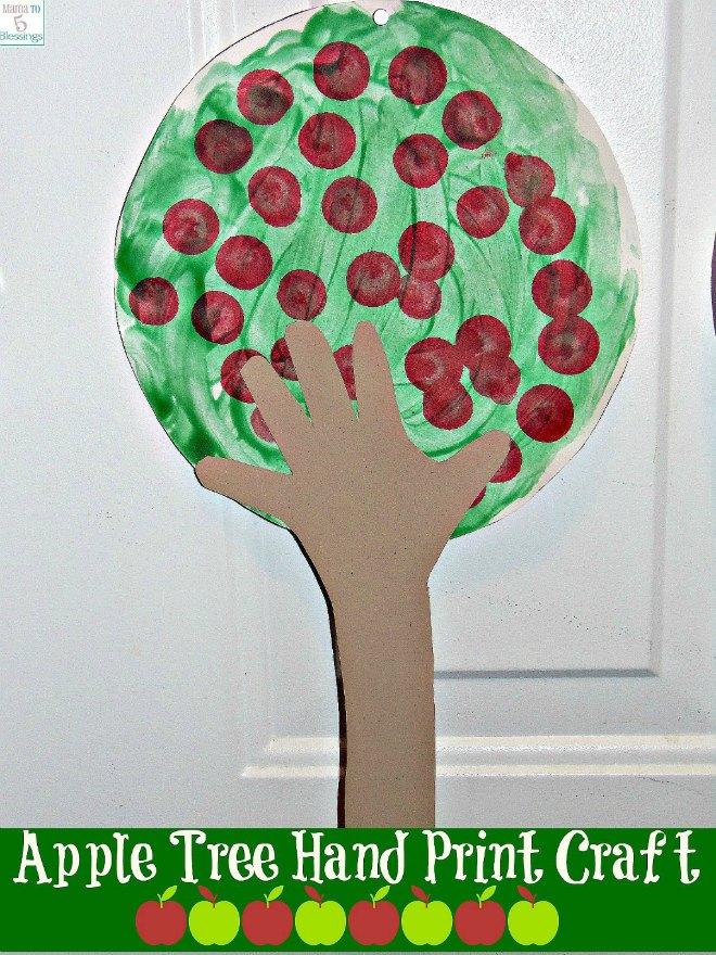 Apple tree hand print