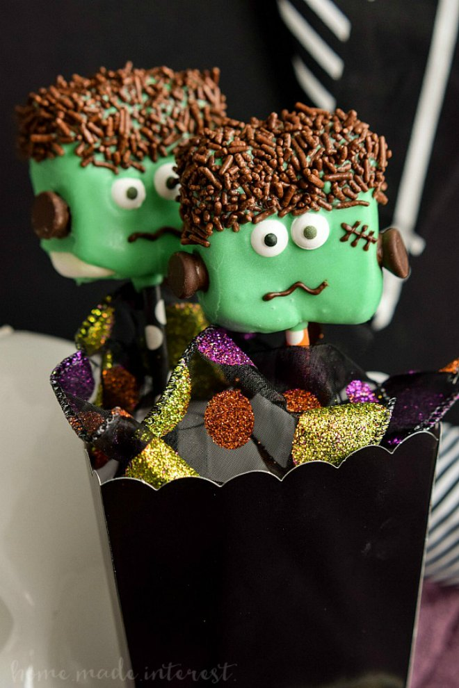 Marshmallow-Frankenstein-Pops