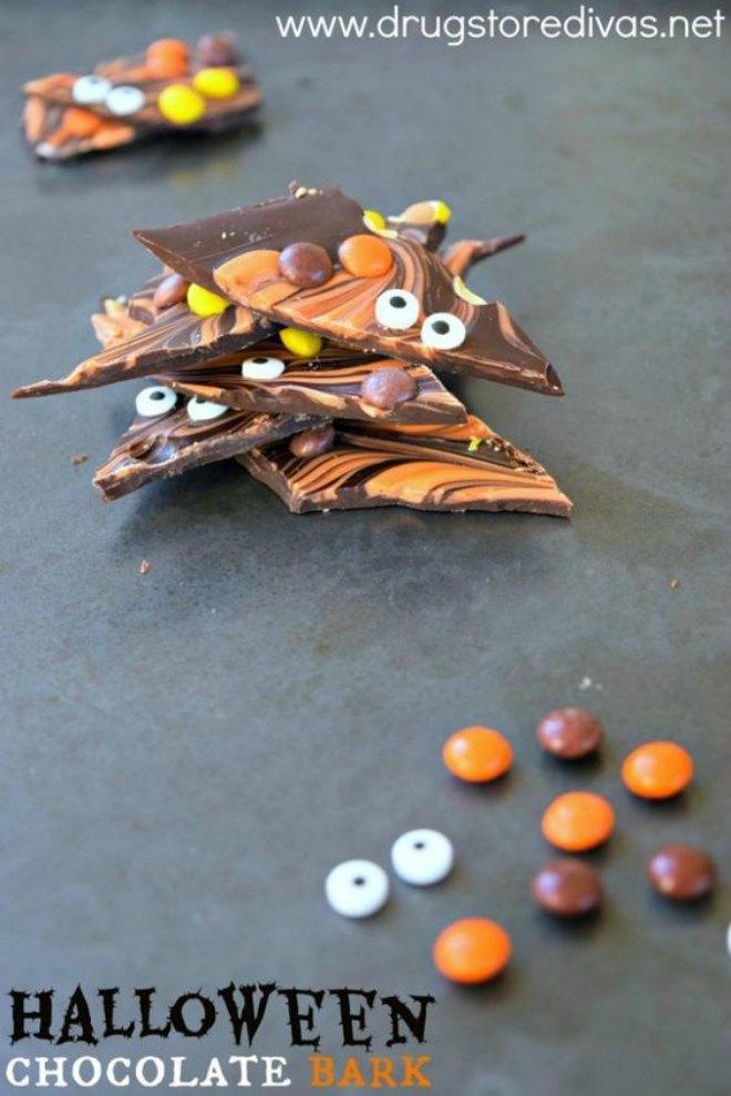 Halloween Orange Candy Bark