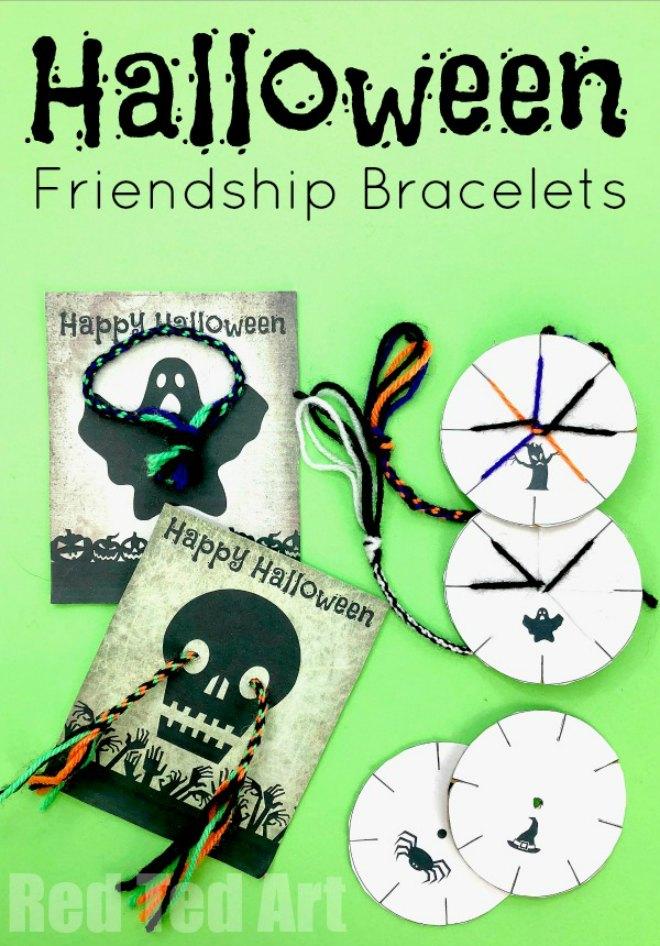 Halloween friendship bracelet