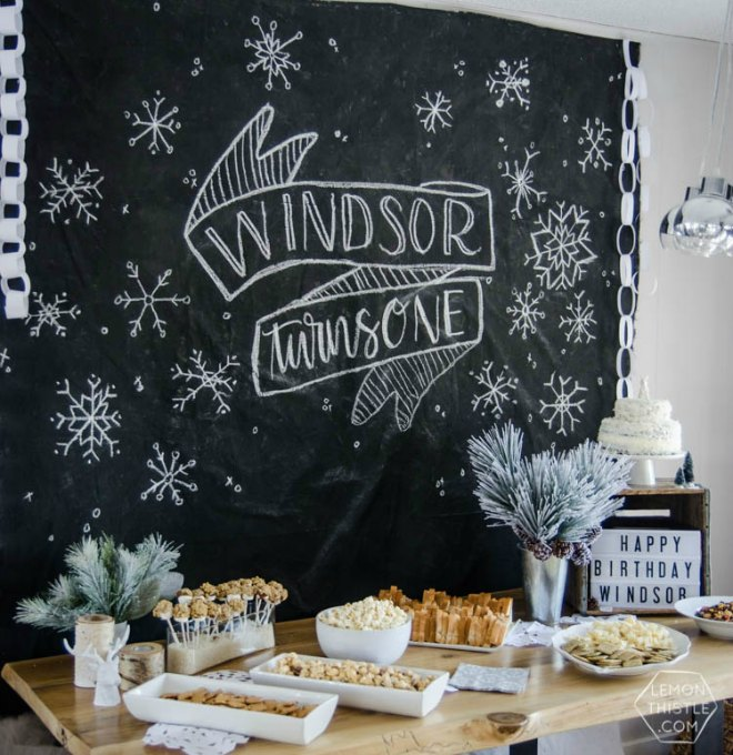 chalkboard party backdrop