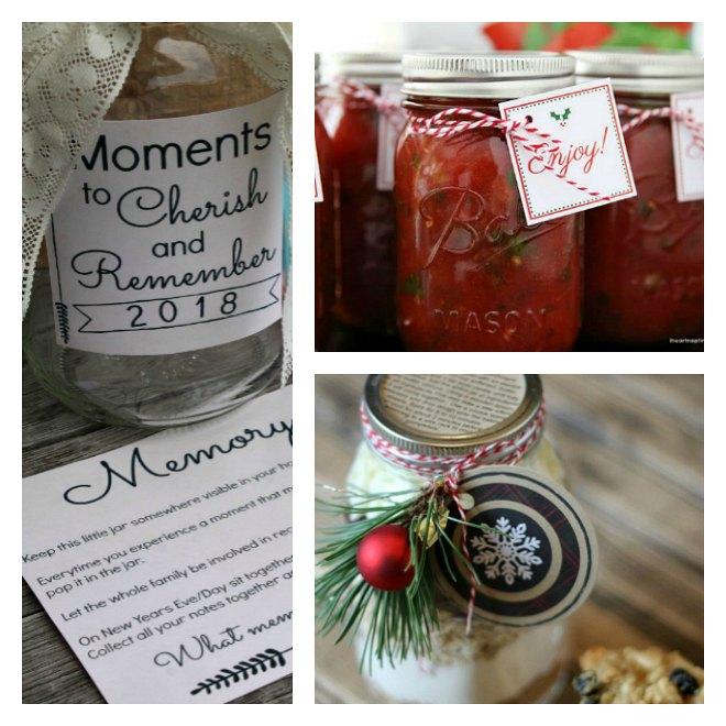 Easy mason jar gift ideas
