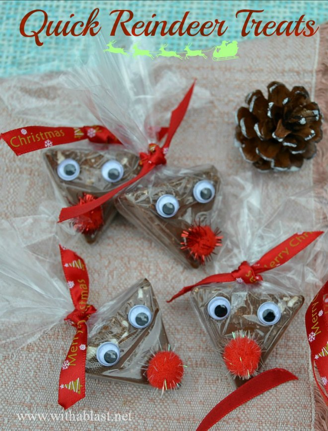 Toblerone reindeer treats