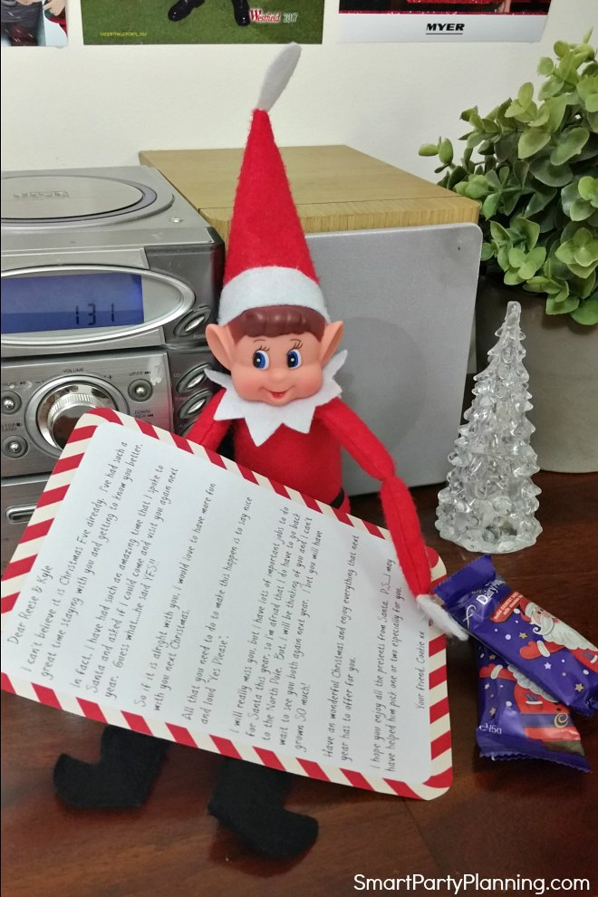 elf on the shelf free printable letter
