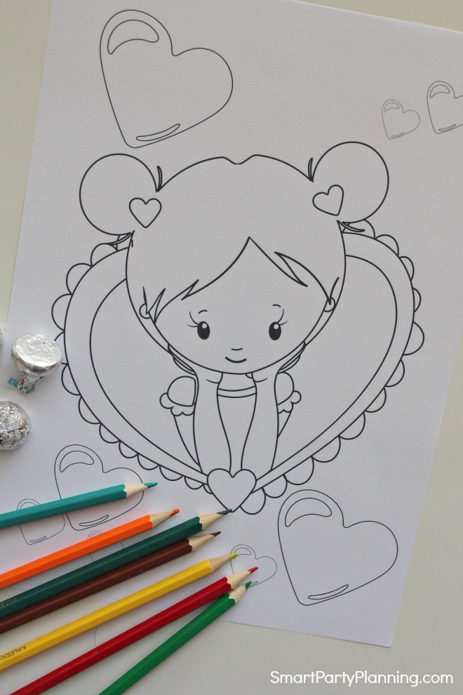 Valentines day heart coloring pages