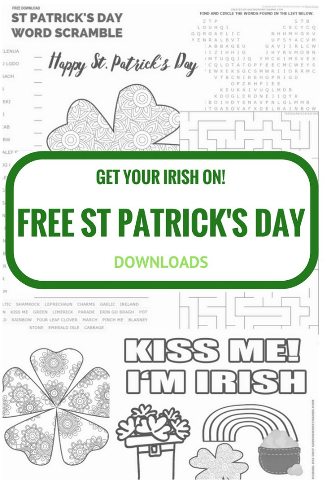 Collection of St Patricks day coloring pages