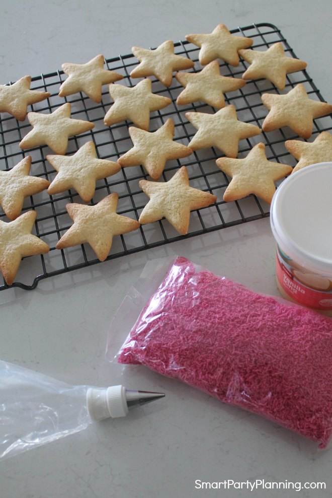 Items you need to make star cookies