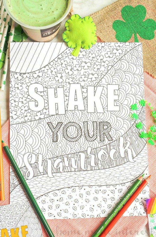 Shake-Your-Shamrock- coloring page
