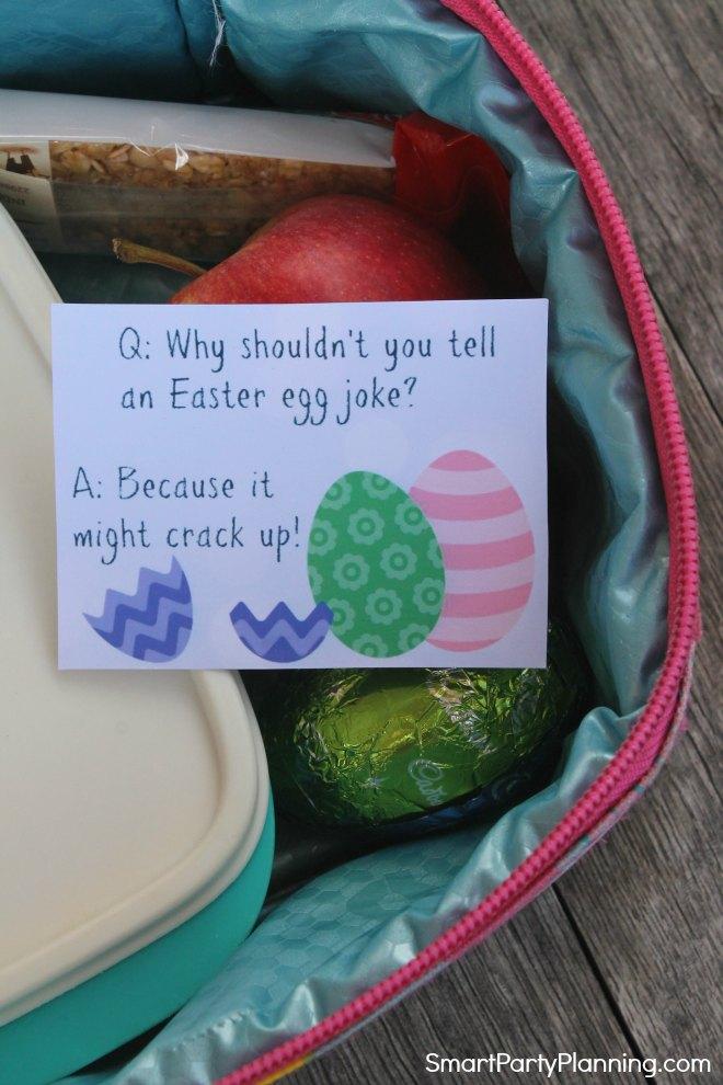 Easter joke in a lunch box