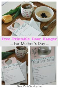 Free Printable Door Hanger For Mothers Day
