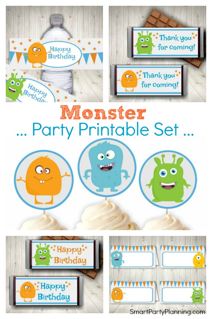 graphic relating to Printable Monster known as The Suitable Monster Celebration Printables For Basic Celebration Styling