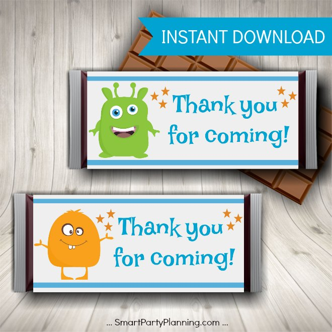 Monster Party Printables Thank You For Coming