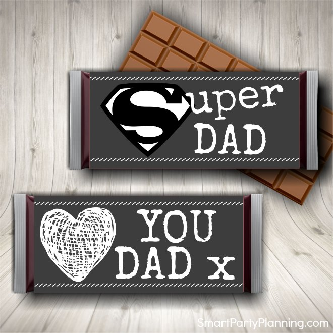 Fathers Day Candy Bar Wrappers