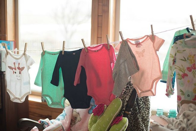 Line of baby onesies