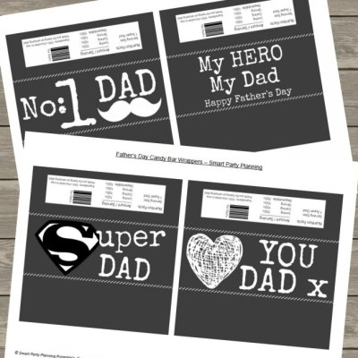The Best Father's Day Candy Bar Wrappers That Dad Will Love