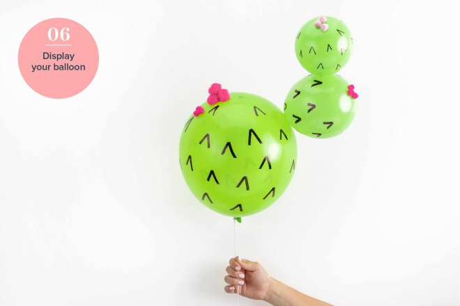 Cactus Balloon tutorial step 6